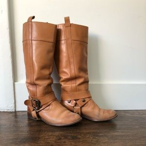 Anthro. Schuler & Sons Tall Cognac Riding Boot